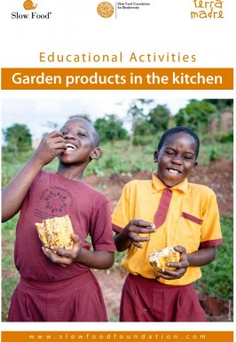 Educational activity  Gardens products in the kitchen